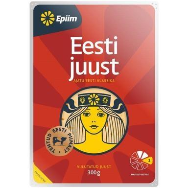 E-PIIM Eesti juust 300g(viilud,laktoosivaba)
