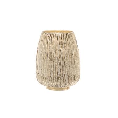POLAR Küünlahoidja klaasist 20,5cm (kuld)