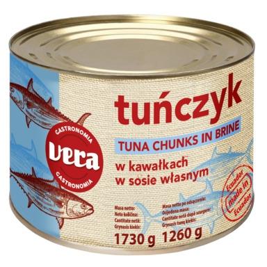 VERA Tuunikala tükid soolvees 1,730kg